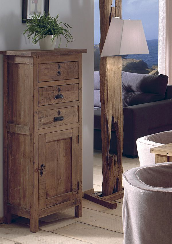 best chiffonnier trinidad teck recycl fabrication artisanale de chez cocktail scandinave. Black Bedroom Furniture Sets. Home Design Ideas