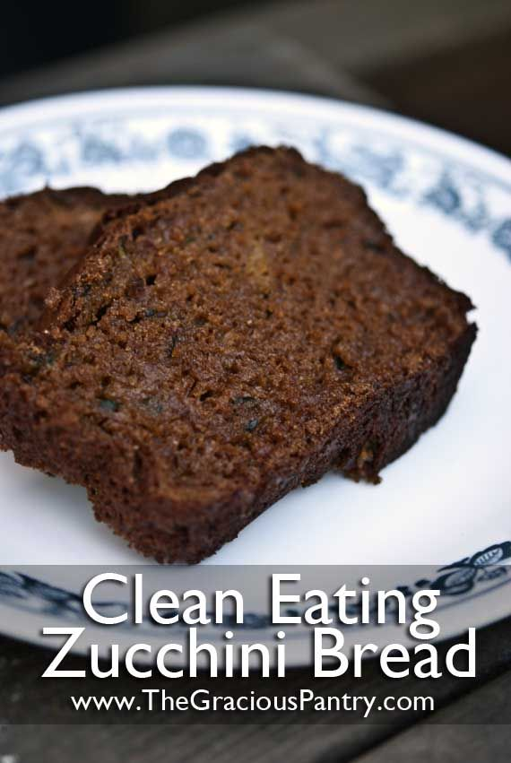 Clean Eating Zucchini Bread- no sugar  and will need to substitute wheat flour but maybe worth trying