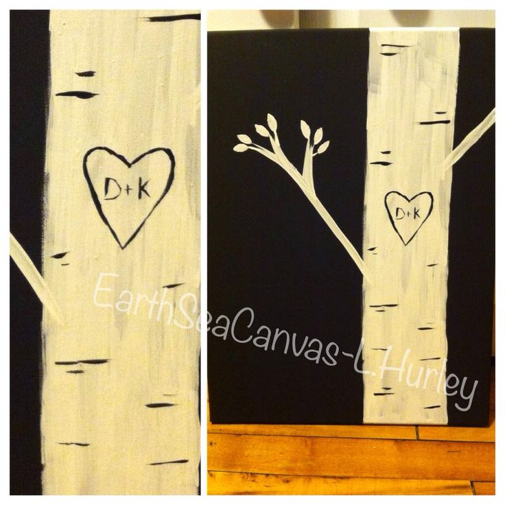 birch tree,love,heart,canvas Canvas Art By Lindsay Hurley www.earthseadesigns.webs.com/ www.facebook.com/earthseadesigns