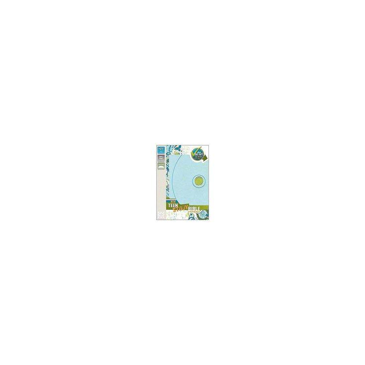NIV Teen Study Bible : New International Version, Mist Blue/Kiwi, Italian Duo-Tone (Compact) (Paperback)