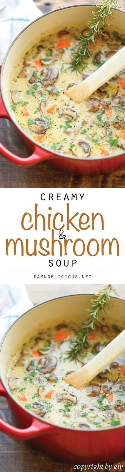 Creamy #Chicken #and #Bedroom #Soup So comfortable, so comforting and so creamy. …   – Dinner