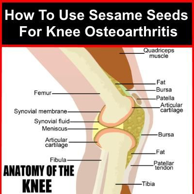 How To Use Sesame Seeds For Knee Osteoarthritis