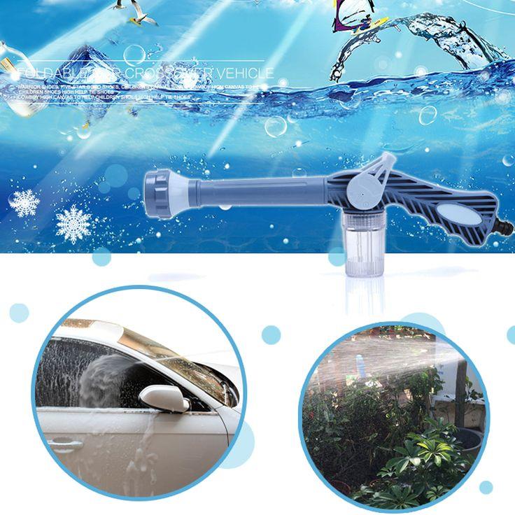 CTDSGW00007 Blue Garden Sprayer Car Washing Washer Plastic Garden Hose Pipe Connector Function Ez Jet Water Cannon 8 In 1 Turbo www.peoplebazar.net    #peoplebazar