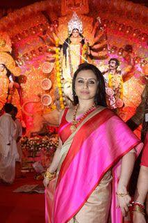 Rani Mukherjee Celebrates Durga Puja.