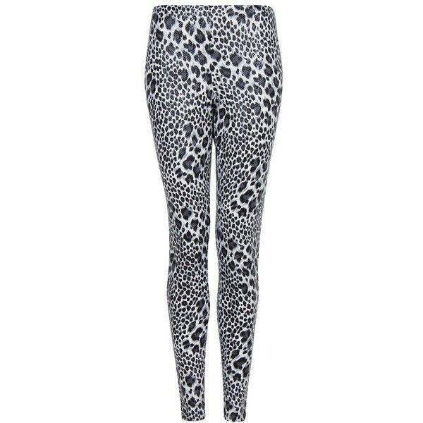 Leopard Print Leggings ($32) ❤ liked on Polyvore featuring pants, leggings, elastic waistband pants, shiny pants, wet look leggings, mango leggings and leopard print pants