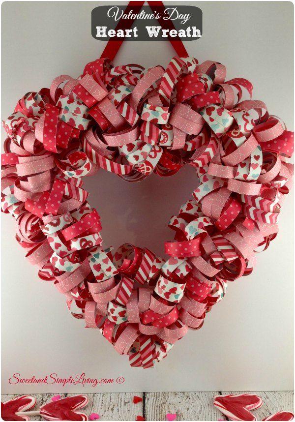 Valentineu0027s Day Heart Wreath Tutorial made