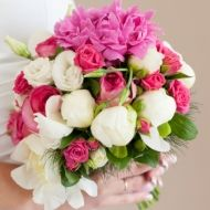 Inspire Him Bridal Bouquet; pink and white; $159.99