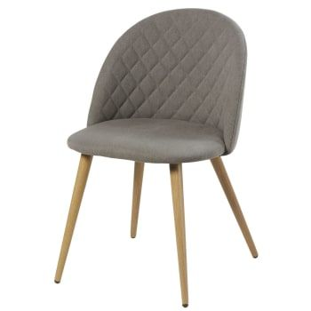 Chaise Vintage Gris Clair Chine Et Bouleau En 2020 Chaise Vintage Chaises De Table A Manger Table A Manger Vintage