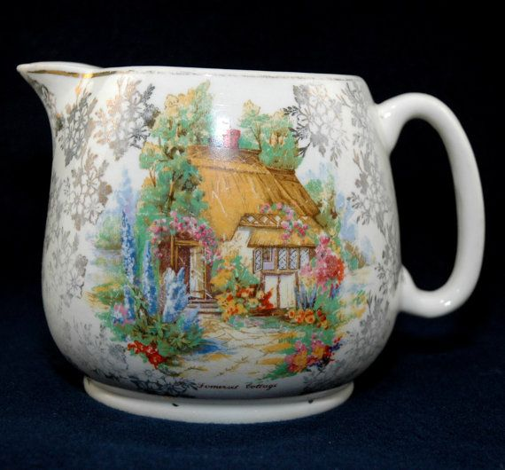Vintage English Country Somerset Cottage Milk by MyHeirloomCharms on etsy.com