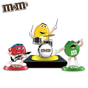 m&m pictures of characters | Characters Rock Band Figurine Collection: Rock Out With M&M'S ...