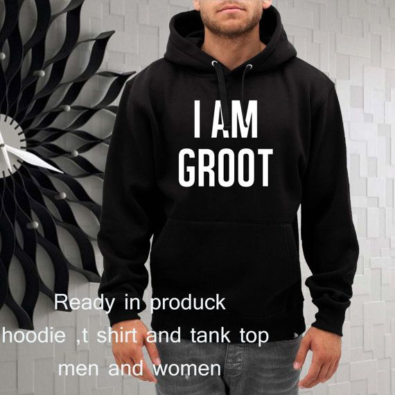 i am groot the guardians of galaxy hoodie  size by gajeshop