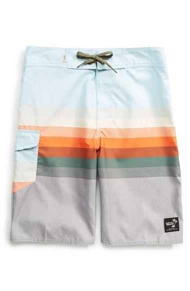 Vans 'Retina' Stripe Board Shorts (Big Boys) | Nordstrom