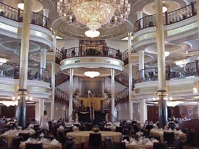 Dining room on the Adventure of the seas - Royal Caribbean Cruise - had lovely dinners here almost every night followed by a great show!