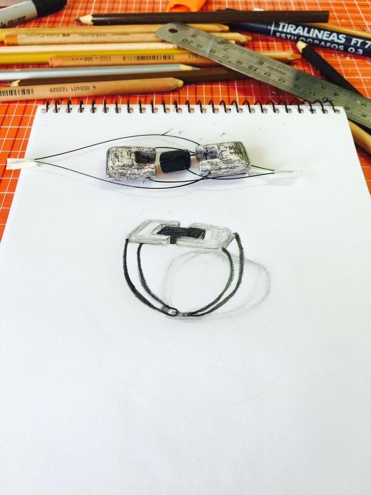 Diseñando pulsera unisex!! Papel, plata y cuero natural.