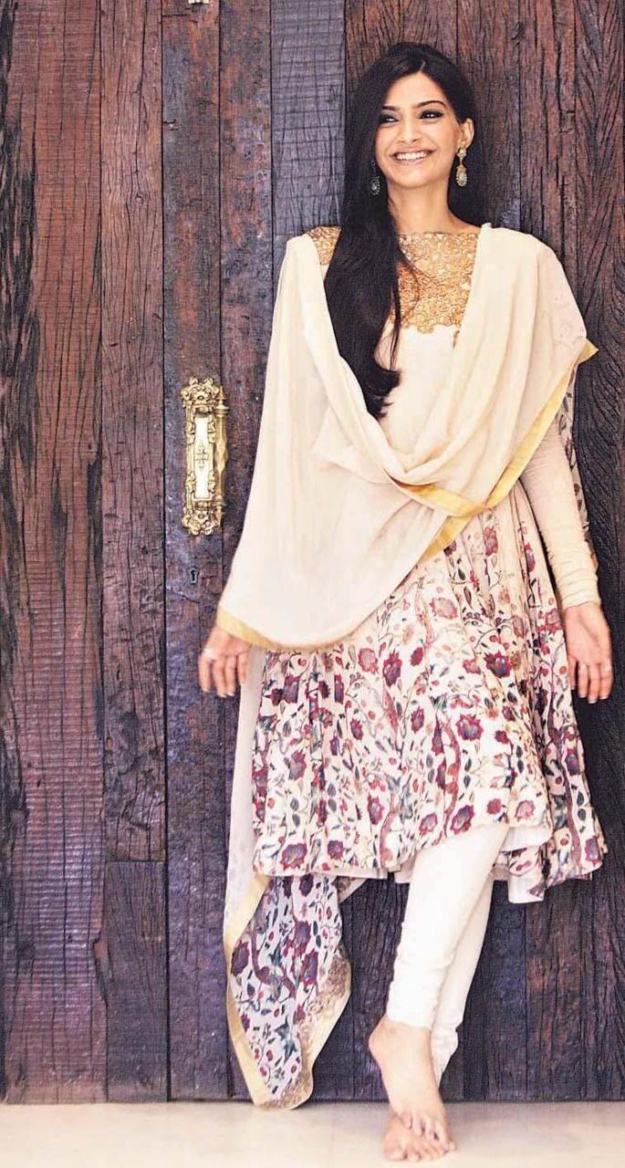 Sonam Kapoor in a floral salwar