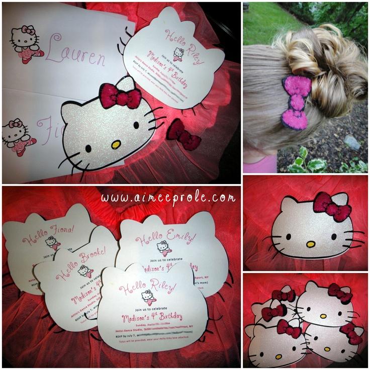 wording0th birthday party invitation%0A Hello Kitty Invite