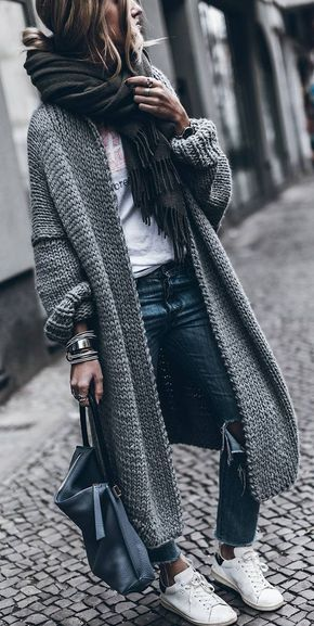 Fashion Herbst 2017, Maxi cardigan #modedesign