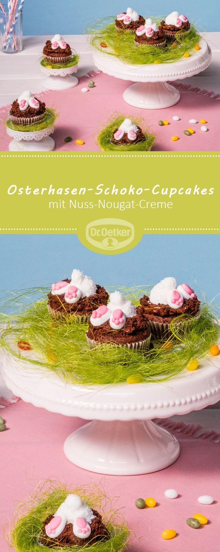 Osterhasen-Schoko-Cupcakes