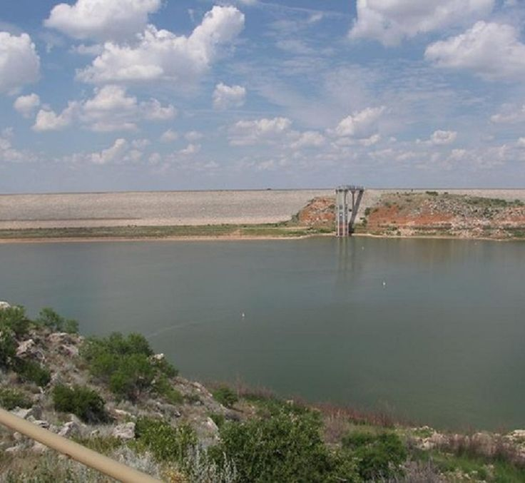 Sanford Dam Lake Meredith National Recreation Area Near Amarillo Texas Amarillo Texas
