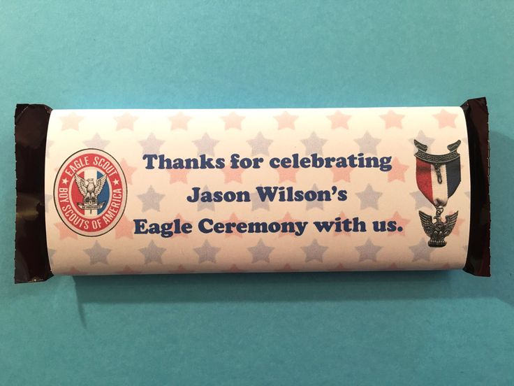 Personalized Eagle Scout Candy Bar Wrapper with Stars // Eagle Scout Ceremony // Eagle Scout Court of Honor by LAGCraftStudio on Etsy
