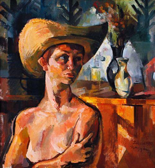 Zsögödi Nagy Imre (1893-1976) - Half-nude with hat
