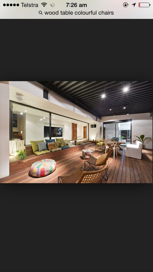Colour scheme, deck, living areas