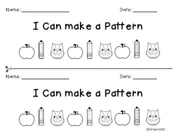 Here's a mini-book for students on making patterns.