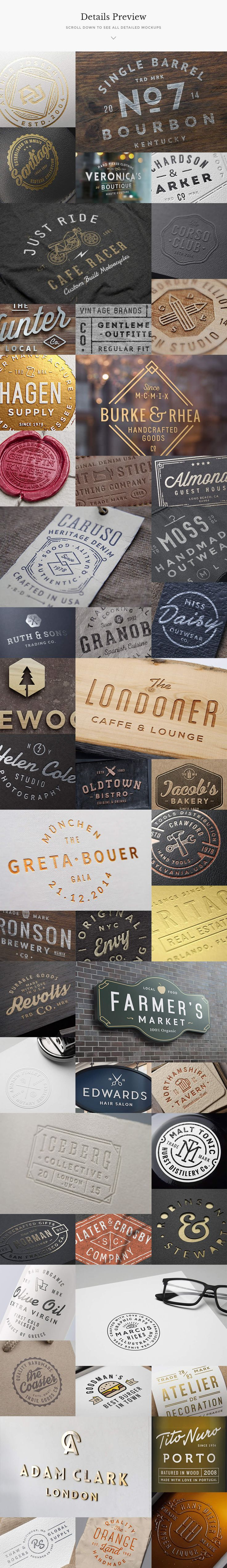 50 Logo Mock-ups + 50 Logo Templates by GraphicBurger on @creativemarket