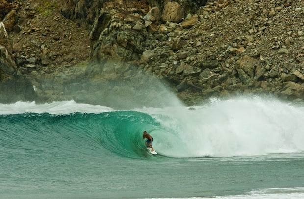 Getting Shacked in Salina Cruz, Mexico. (photo: Tom Carey)  #Mexico #Surfing #Travel #Ocean #Waves