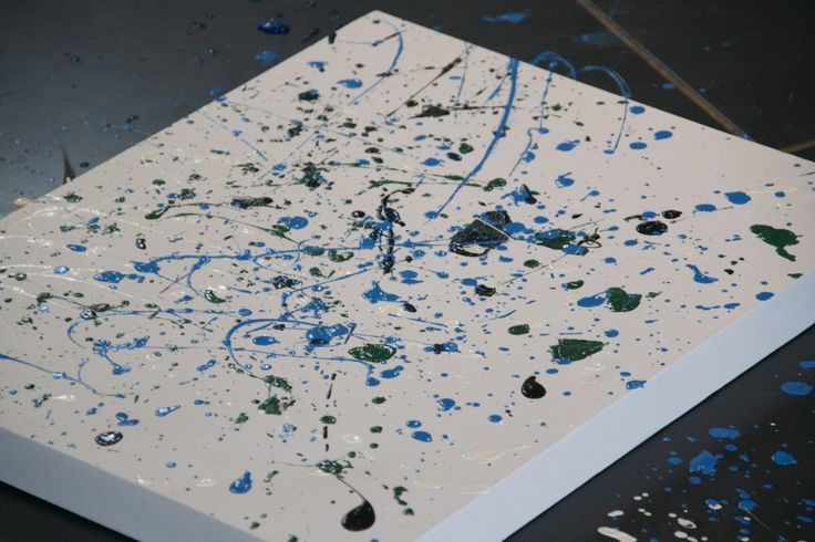 Splat painting, inspired by Jackson Pollock: