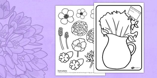 * NEW * Mothers Day Flower Bouquet Coloring Activity
