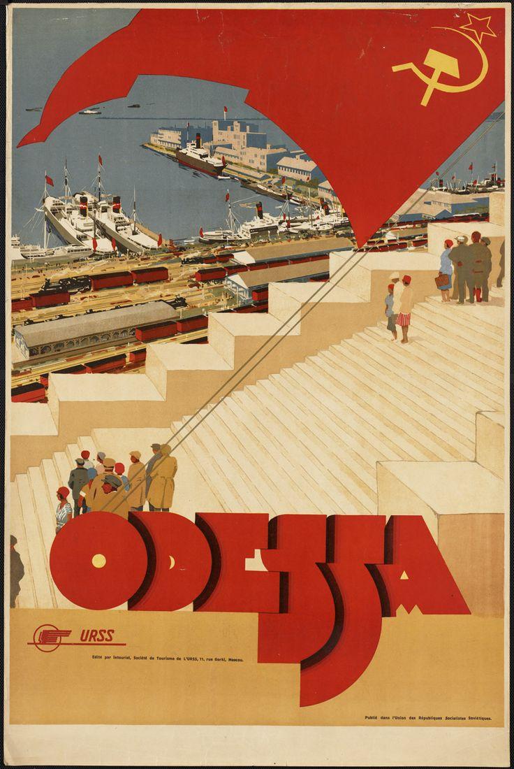 Soviet tourism poster, Odessa