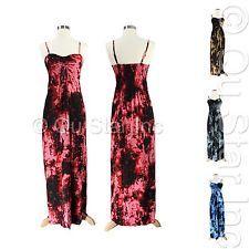 NEW WOMEN'S SUMMER BEACH MAXI DRESS SPAGHETTI STRAP BACKLESS LONG CASUAL DRESSES