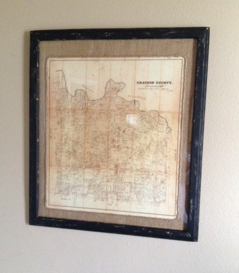 Superb We Framed This 1871 Map Of Grayson County For Aaron At Tin Star Furniture.  It