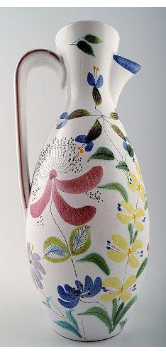 Stig Lindberg for Gustavsberg. Earthenware jug, retro 1940 / 50s.