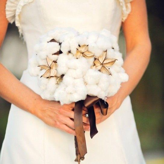 Bouquet da sposa di cotone