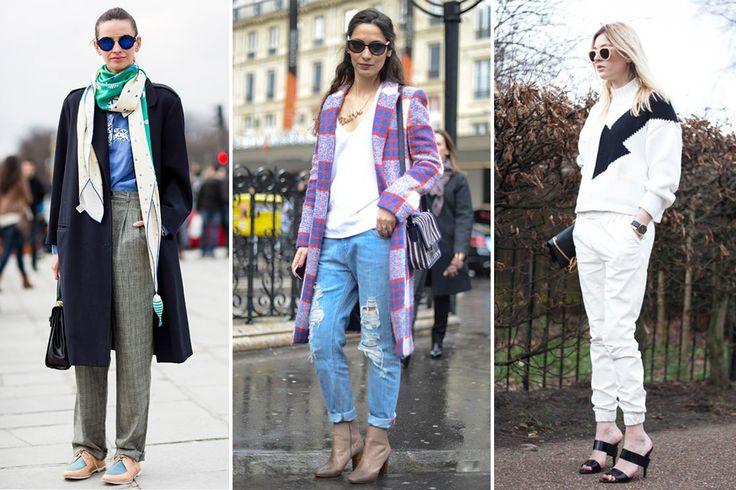 Women wearing menswear