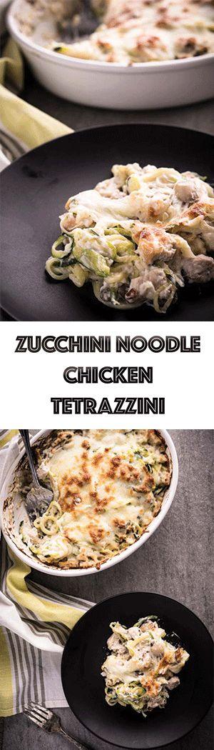 Chicken Tetrazzini with Zucchini Noodles Recipe - Low Carb, Keto Friendly, Gluten-Free