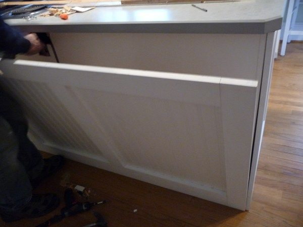 how to update kitchen island he also added seperate panels to each rh pinterest com