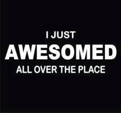 I just awesomed all over the place funny quotes quote awesome lol funny quote funny quotes humor aweome quotes