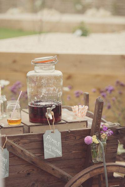 Kilner Jar Reception Drinks www.theferryhouseinn.co.uk