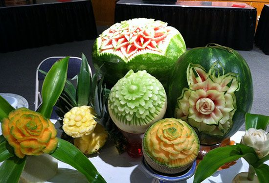 Images about melon carving on pinterest the