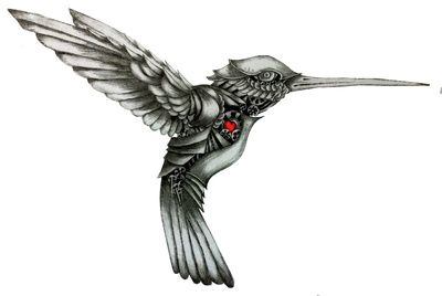 Black And White Hummingbird Tattoo Military Clipart | Just Free Image Download