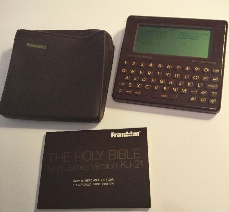 Franklin Holy Bible King James Version KJ-21 Electronic First Edition w/ Manual  | eBay