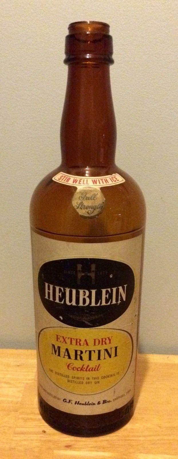 "19"" Rare Heublein Extra Dry Martini Cocktail Advertising Store Bottle Display"
