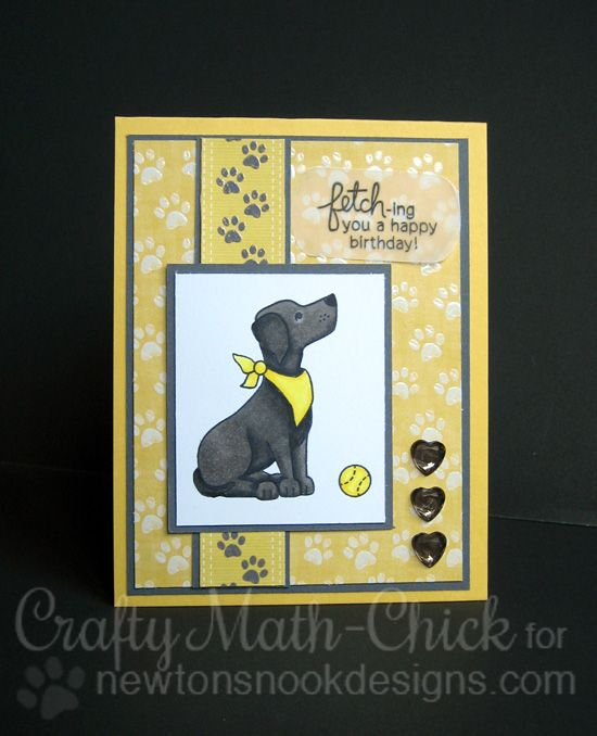 Attractive Card Making Ideas Dogs Part - 9: Fetching Friendship - Photopolymer Stamp Set By Newtonu0027s Nook Designs  Featuring Dog Stamps