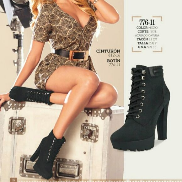 Booties Heel:12cm #776-11 Marjorie De Sousa Shoes Ankle Boots & Booties