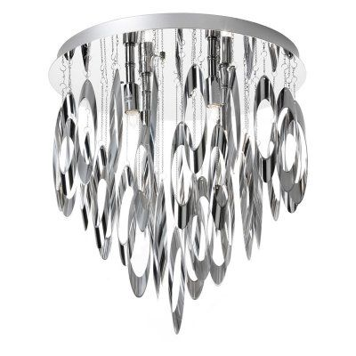 Dainolite Allegro ALL-144FH-PC Flush Mount Chandelier - ALL-144FH-PC