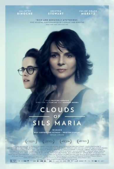 Clouds of Sils Maria is a 2014 drama film starring Juliette Binoche and Kristen Stewart. It was selected to compete for the Palme d'Or and also screened at the Toronto International Film Festival and NY Film Festival. It won the Louis Delluc Prize for Best Film and a best supporting actress César Award for Stewart. Plot: A veteran actress comes face-to-face with an uncomfortable reflection of herself when she agrees to take part in a revival of the play that launched her career 20 years…