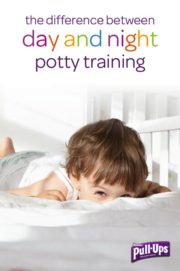 Many toddlers struggle with going to the bathroom by themselves in the dark, which can make nighttime potty training a challenge. Use Pull-Ups Night*Time Training Pants to provide extra protection until he's ready to start sleeping in big kid underwear only. Click here for some simple tricks you can use to recognize when your little one may be ready to make the shift.